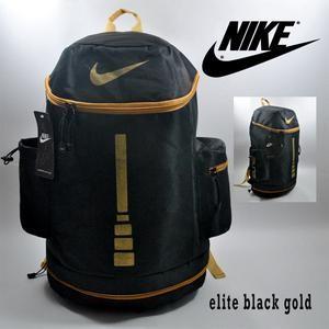Tas Ransel Nike Elite Tabung Hitam Gold
