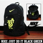 Tas Ransel Nike Just Do It Hitam Hijau