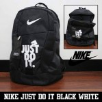 Tas Ransel Nike Just Do It Hitam Putih