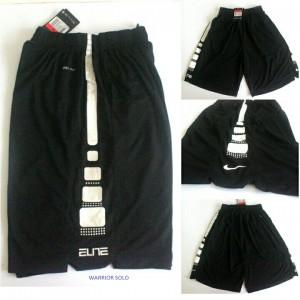Celana Basket Nike Elite Hitam Putih