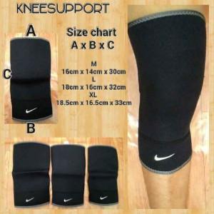 Knee Support Nike Hitam