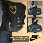 Tas Travel Nike Multifungsi Hitam Gold