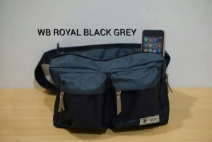 Tas Waistbag Royal Black Grey