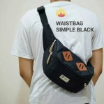 Tas Waistbag Simple Black