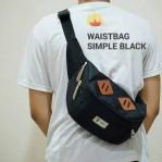 Tas Waistbag Simple Black