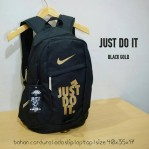 Tas Ransel Nike Just Do It Black Gold