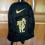 Tas Ransel Nike Just Do It Black Gold