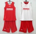Jersey Basket Indonesia Merah Putih