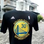 Kaos Basket Golden State Warrior Hitam