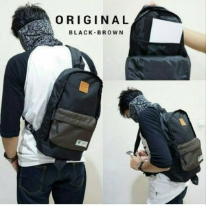 Tas Sling Bag Black Brown