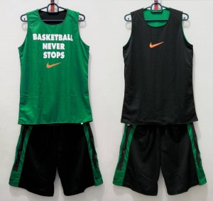 Jersey Basketball Never Stop Hitam Hijau