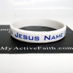 Gelang Jesus Name I Play Putih Biru