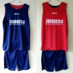 Jersey Basket Indonesia Donker Merah