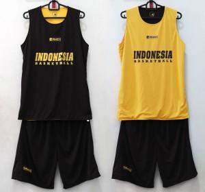 Jersey Basket Indonesia Hitam Kuning