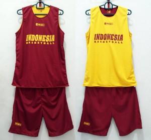 Jersey Basket Indonesia Maroon Kuning V2