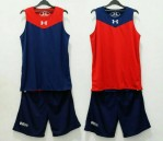 Jersey Basket Under Armour Biru Donker Merah
