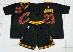 Jersey Basket Cavaliers James Hitam