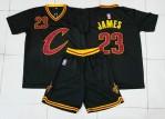 Jersey Basket Cavaliers James Hitam