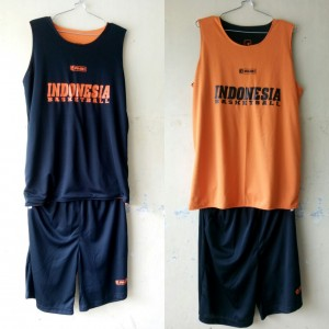 Jersey Basket Indonesia Hitam Orange