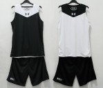 Jersey Basket Under Armour Hitam Putih