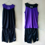 Jersey Basket Under Armour Hitam Ungu