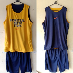 Jersey Basketball Never Stop Donker Kuning