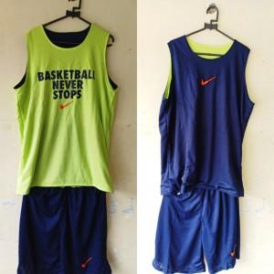 Jersey Basketball Never Stop Donker Hijau Stabilo
