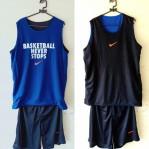 Jersey Basketball Never Stop Hitam Biru