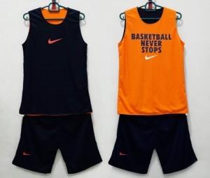 Jersey Basketball Never Stop Hitam Orange