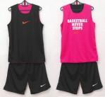 Jersey Basketball Never Stop Hitam Pink
