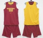 Jersey Basketball Never Stop Maroon Kuning