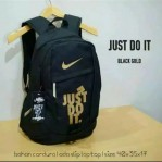 Tas Ransel Just Do It Black Gold