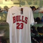 Kaos Basket Bulls Jordan Putih
