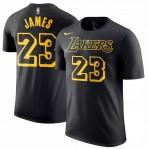 Kaos Basket Lakers James Hitam Kuning