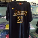 Kaos Basket Lakers James Hitam Kuning