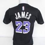 Kaos Basket Lakers James Hitam Ungu