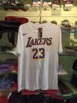 Kaos Basket Lakers James Putih