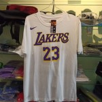 Kaos Basket Lakers James Putih