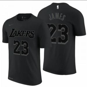 Kaos Basket Lakers James Hitam Abu