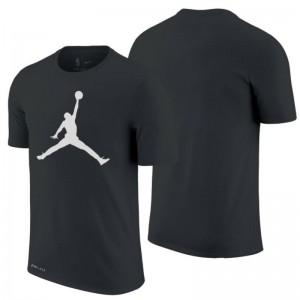 Kaos Bakset Logo Jordan Hitam