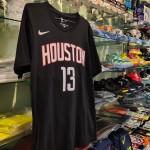 Kaos Basket Houston Harden Hitam