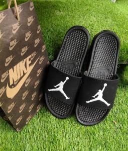 Sandal Slide Basket Jordan Hitam